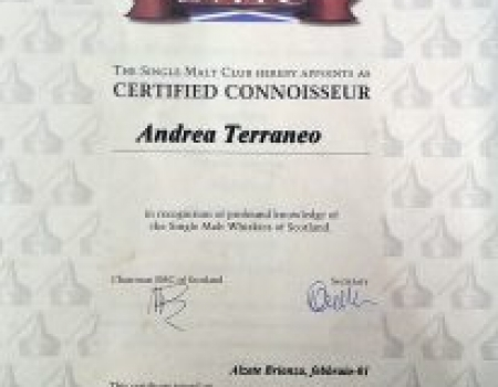 Certificato Single Malt Whiskies
