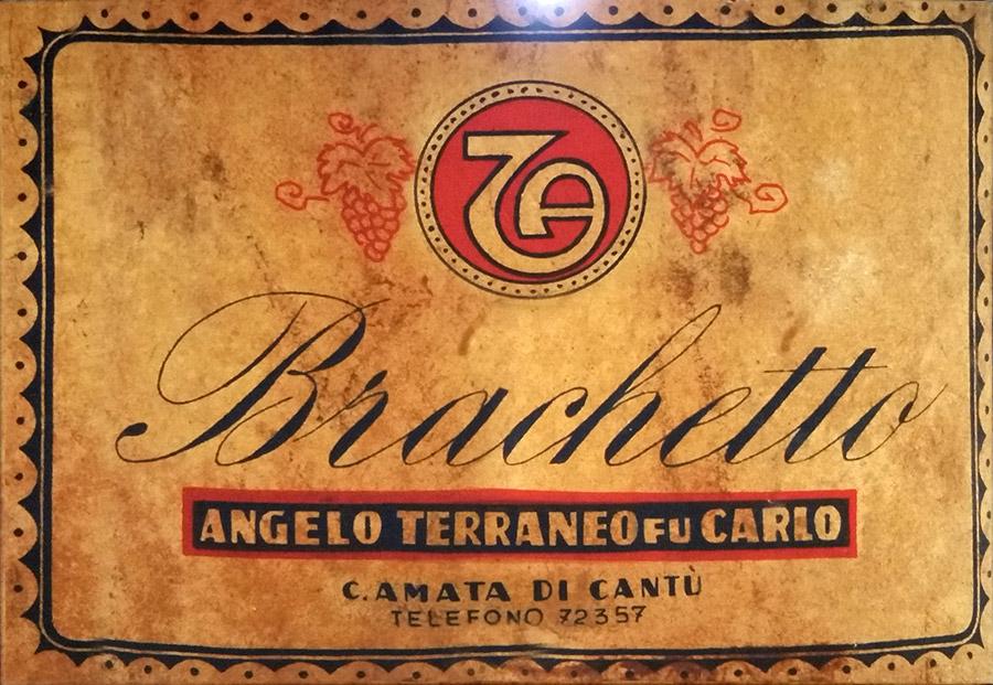 Etichetta Brachetto