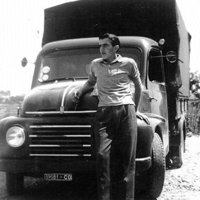 papà Antonio Terraneo con Fiat 615